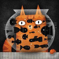 Desenho Pop Art, Posca Art, Canvas Art, Canvas Prints, Art Original, Art Graphique, Cat Drawing, Crazy Cats, Cat Art