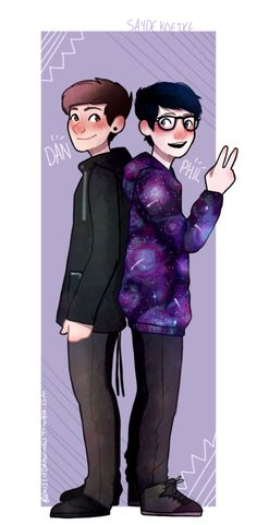 I don't usually pin Dan and Phil fanart but this is SUPER adorable so I just had to :)