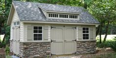 Stone Siding  I know it's garage but picture it on the house