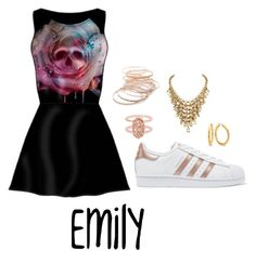 """Emily"" by emilyramme on Polyvore featuring adidas Originals, Kendra Scott and Red Camel"