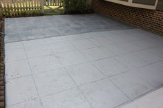Concrete patio makeover with great instructions :)