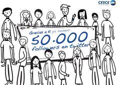 Javier, nuestro intrépido empresario, sigue rodeándose de amigos. Ya somos 50.000 en Twitter. Gracias a todos y cada uno de vosotros