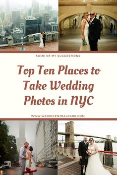 top ten places to take wedding photos in nyc