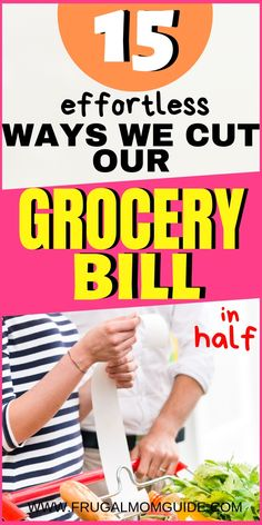 Looking creative ways to save money? These budget grocery shopping tricks will show you how to cut your grocery bill in half! Learn how to save on groceries with these frugal grocery shopping hacks! Read more and get more personal finance and frugal livin Money Saving Meals, Money Saving Challenge, Save Money On Groceries, Ways To Save Money, Money Tips, Groceries Budget, Money Hacks, Planning Budget, Budget Planer