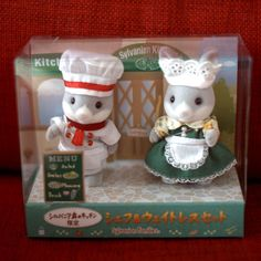 Calico Critters Sylvanian Families FOREST KITCHEN CHEF & WAITRESS Epoch  | eBay