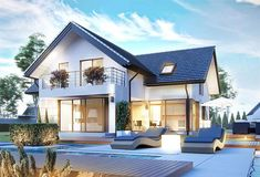 homify is an online platform for architecture, interior design, building and decoration. homify offers everything the end user requires, from the planning stage, up to the delivery of the keys to your dream home. Small House Exteriors, Dream House Exterior, Tiny House Design, Modern House Design, German Houses, House Wall, House Extensions, Modern House Plans, Modern Exterior
