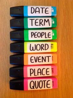Escrever pra que assunto serve cada cor