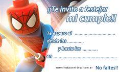 Tarjeta de cumpleaños de hombre-arania-spiderman-lego