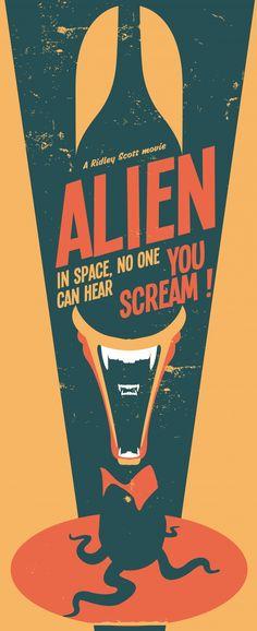 Alien (1979) ~ Minimal Movie Poster by Nicolas Beaujouan #amusementphile