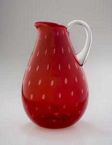 Strawberry Glass Pitcher