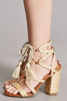 5ee1b06dfa49be Image result for braided straw sandal heel Lace Up Sandals