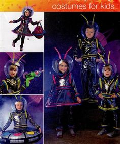 Simplicity 2796 Alien Kids Costume PATTERN Childrens Space