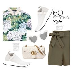 """""""60 Second Style"""" by badassbabyboomer ❤ liked on Polyvore featuring Miss Selfridge, Dolce&Gabbana, adidas Originals, Yves Saint Laurent, Gucci and 60secondstyle"""