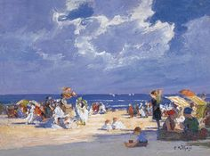 Edward Henry Potthast (1857-1927), 'beach scene' (H. 1915) Thyssen-Bornemisza Museum