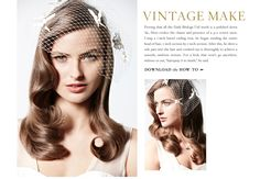 downloadable wedding hair how-to's from  bhldn