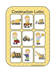 """Free! Constructing Preschool Fun....packet was developed to be used in conjunction with the book """"Goodnight, Goodnight Construction Site,"""" but can be used on its own as well. The activities were developed to promote basic preschool skills."""