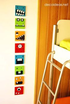 Using Wall Art to Scare Away Those Pesky Monsters DecoIdeas