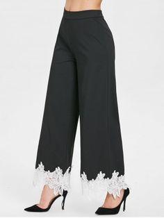 Women S Fashion Leotard Body Top Fashion Pants, Fashion Dresses, Men Fashion, Fashion Trends, Terno Casual, Plazzo Pants, Pantalon Large, Salwar Designs, Lace Pants