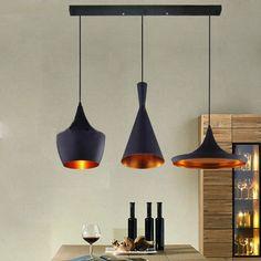 3pcs Retro Vintage Industrial Pendant Light Lamp Shade Lampshade Ceiling Lights