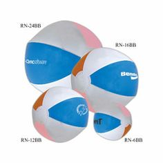 """Toss your name around on this 12"""" beach ball. Phthalate safe. Beach ball measured inflated, half the circumference. Perfect for promoting sales incentive trips."""