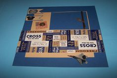 Air Force gift. Military scrapbook. Scrapbook by 1OfAKindCrafts