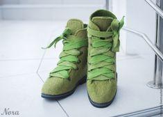 f705c90aa Купить Ботинки Валяные Зеленый Мох в интернет магазине на Ярмарке Мастеров