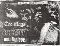 Punk hardcore flyer for Cro-Mags, Earth Crisis, Mouthpiece ... NJ I assume