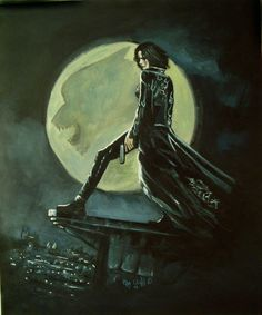i had done this painting while ago, but i decide to go over it and make it way better. i am lot happier with this one cos of the details i got put into . Underworld my painting Underworld Selene, Underworld Movies, Real Vampires, Vampires And Werewolves, Comedy Films, Horror Films, Fantasy Movies, Fantasy Art, Science Fiction