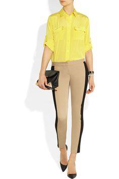 DKNY|Skinny stretch-cotton pants|NET-A-PORTER.COM
