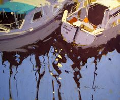 Tony Allain, Marina Reflections, pastel on sanded paper 11 x 14 1y