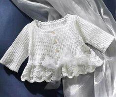 Baby Knitting Patterns Girl crochet dresses on Stylowi. Crochet Girls, Crochet Baby Clothes, Crochet For Kids, Knit Crochet, Free Crochet, Knitted Baby, Crochet Dresses, Crochet Pattern, Baby Cardigan