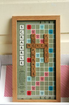 scrabble wall art Scrabble Tile Crafts, Scrabble Wall Art, Scrabble Letters, Diy Crafts For Gifts, Upcycled Crafts, Repurposed, Benton House, Hello Walls, Scrabble Board Game