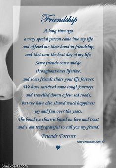 Friendship poem. Welcome to repin and share enjoy