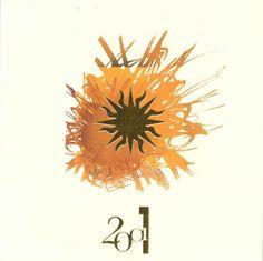 Cartes de voeux - modèle 2001 (papier texturé naturel avec dorure à chaud et impression quadri) © COPY-TOP