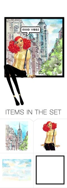 """Good Vibes"" by decoder13 ❤ liked on Polyvore featuring art"