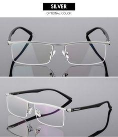 Bclear High-End Business Men'S Eyeglasses Frame Unique Temple Design – FuzWeb Spectacles Mens, Men Eyeglasses, Mens Frames, Mens Glasses Frames, Mirrored Sunglasses, Mens Sunglasses, Temple Design, Black Bracelets, Reading Glasses