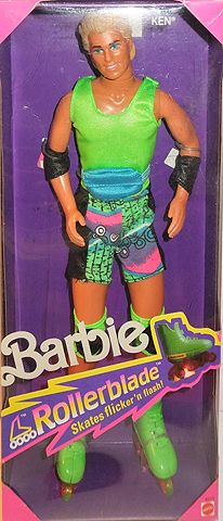 Rollerblade Ken - 1991 Barbie and him went on so many adventures.