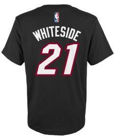 adidas Kids  Hassan Whiteside Miami Heat Name And Number T-Shirt - Black XL 3b37c7365