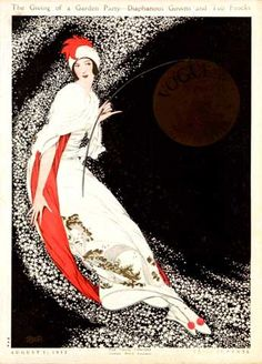 ⍌ Vintage Vogue ⍌ art and illustration for vogue magazine covers - George Plank, Vogue, August 1912 by Gatochy, via Flickr