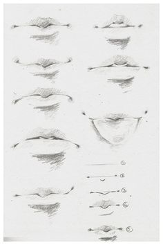Delineate Your Lips - How to draw lips correctly? The first thing to keep in mind is the shape of your lips: if they are thin or thick and if you have the M (or heart) pronounced or barely suggested. Male Face Drawing, Nose Drawing, Guy Drawing, Drawing People, Drawing Ideas, Eye Drawing Tutorials, Anime Eyes Drawing, Drawing Female Body, Drawing Tips