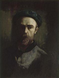Odilon Redon ~ Self-Portrait, 1880