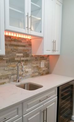 Stone Kitchen Backsplash With White Cabinets stone kitchen backsplash with white cabinets design inspiration