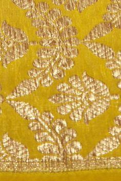 silk dark mustard fabric