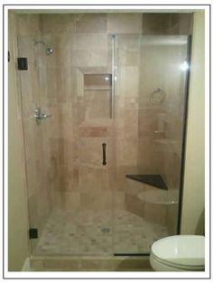 Beautiful custom shower door!
