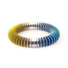 John Moore. Anodised aluminium bracelet. Prices from £78