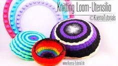 Knitting Loom, Strickring,Utensilo,Schale , Anleitung,Video,
