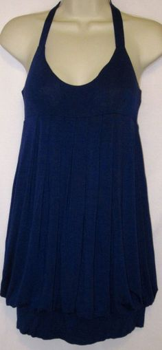 Forever 21 Womens Sm Royal Blue Shirt Top Sleeveless Knit Small  #FOREVER21 #KnitTop #Casual