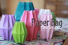 Make Paper Bag Lanterns