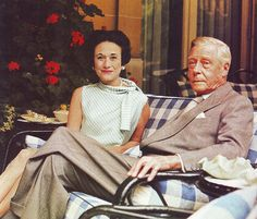 "King Edward VIII ""David"" (Edward Albert Christian George Andrew Patrick David) Prince of Wales, later Duke of Windsor UK wife Wallis Simpson (Bessie Wallis Warfield-Spencer-Simpson) USA, The Duke and Duchess of Windsor leading a retired life by Doc Kazi"