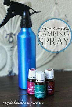 homemade camping spray using essential oils